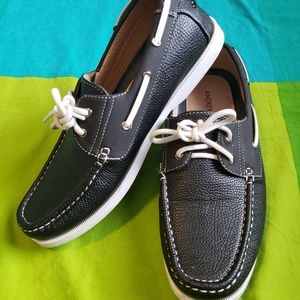 Black Mens Boat Shoes